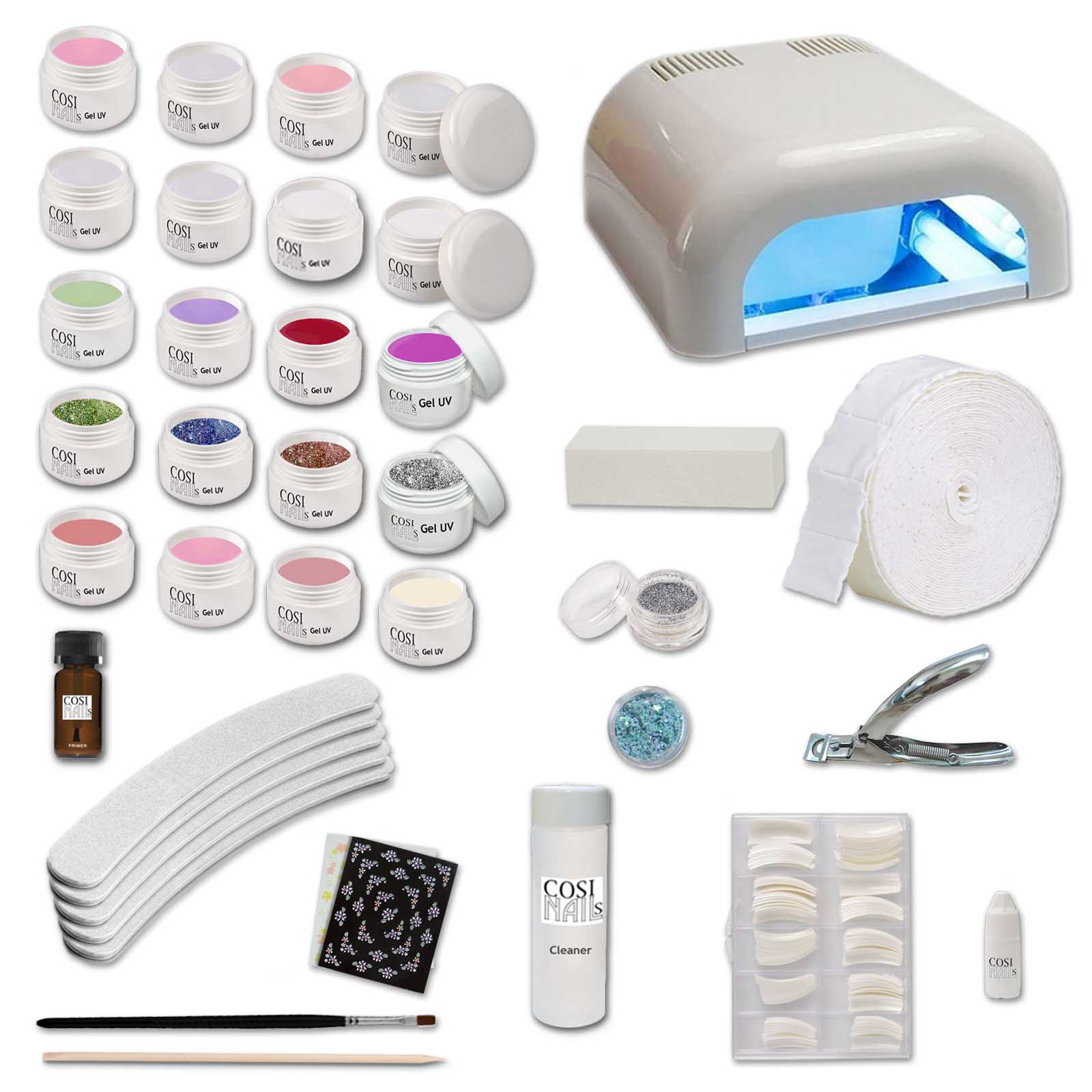 Tavolo professionale per ricostruzione unghie kit xxl con 20 gel uv germania ebay - Tavolo ricostruzione unghie ebay ...