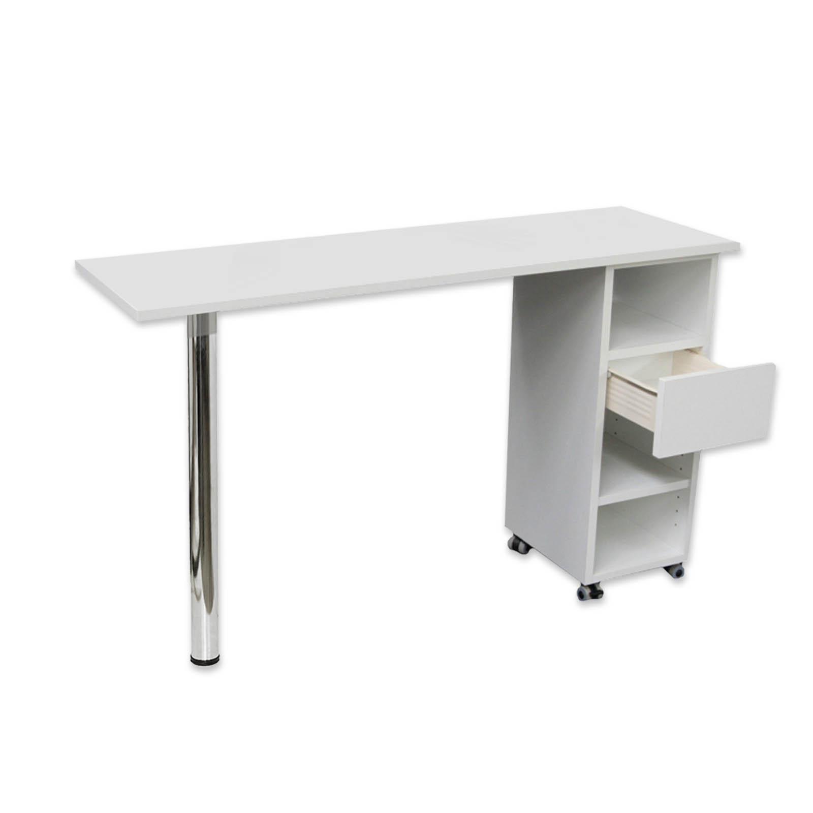 Tavolo professionale per ricostruzione unghie con cassetto e ruote 120 x 40 cm - Tavolo ricostruzione unghie ebay ...